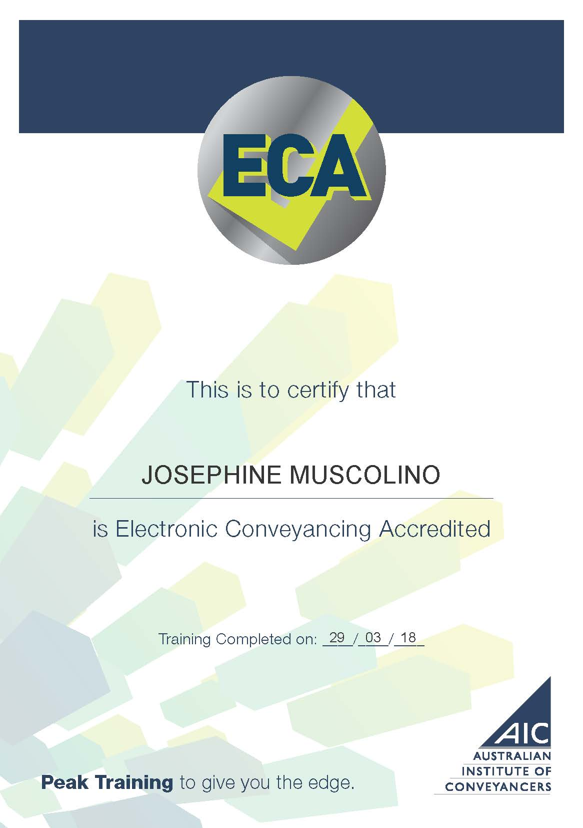 Electronic Conveyancing Accredited